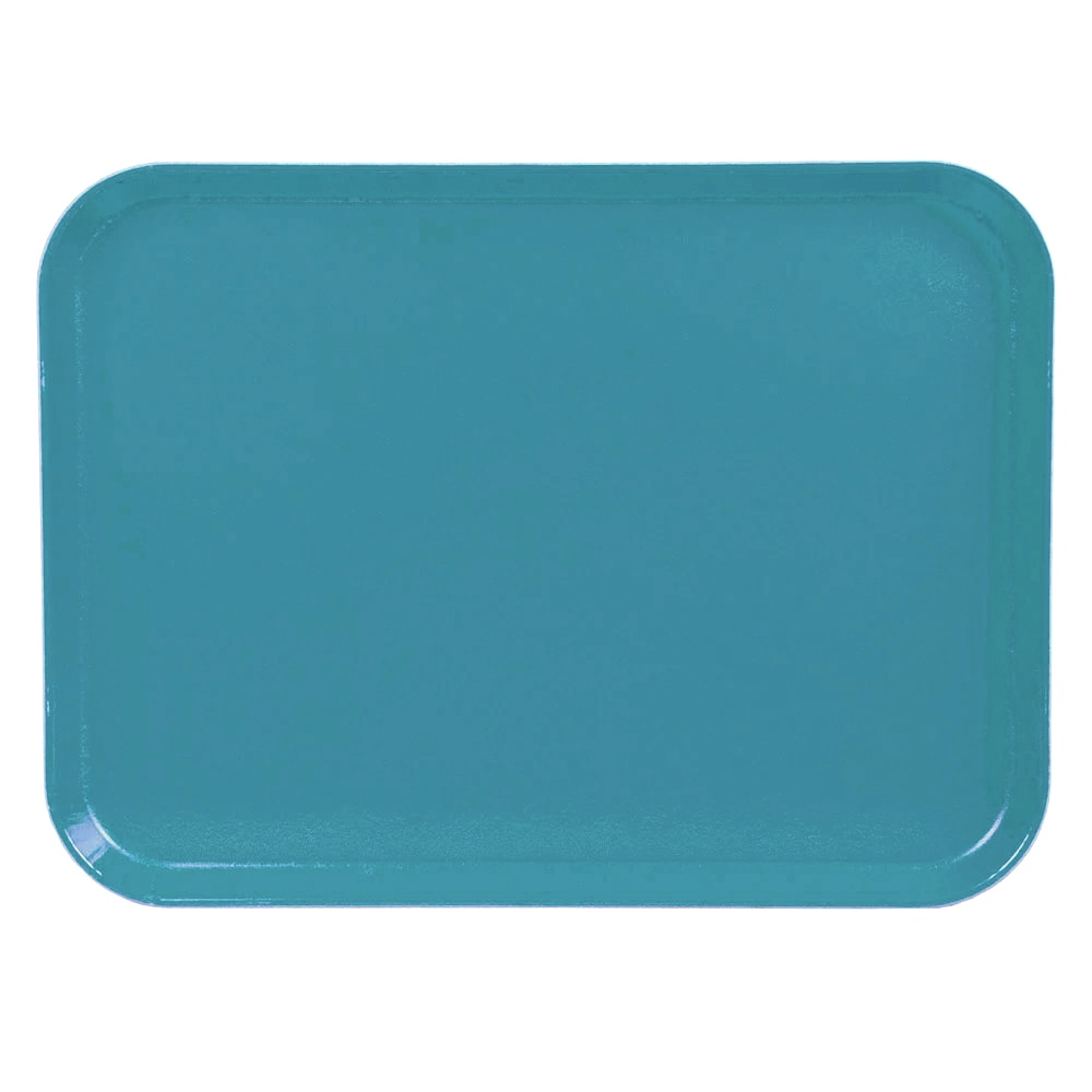 "Cambro 1520CL674 Rectangular Camlite Tray - 15x20 1/4"" Steel Blue"