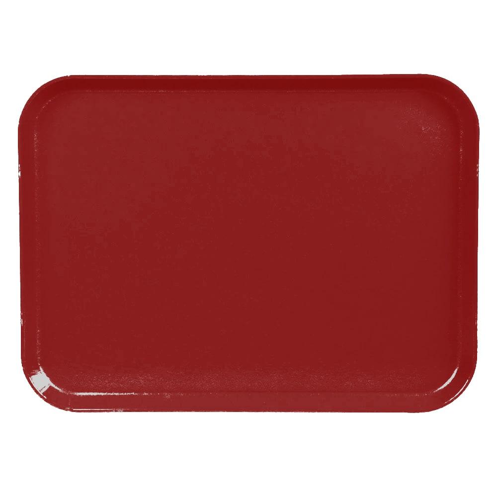 "Cambro 1520CL675 Rectangular Camlite Tray - 15x20 1/4"" Steel Red"