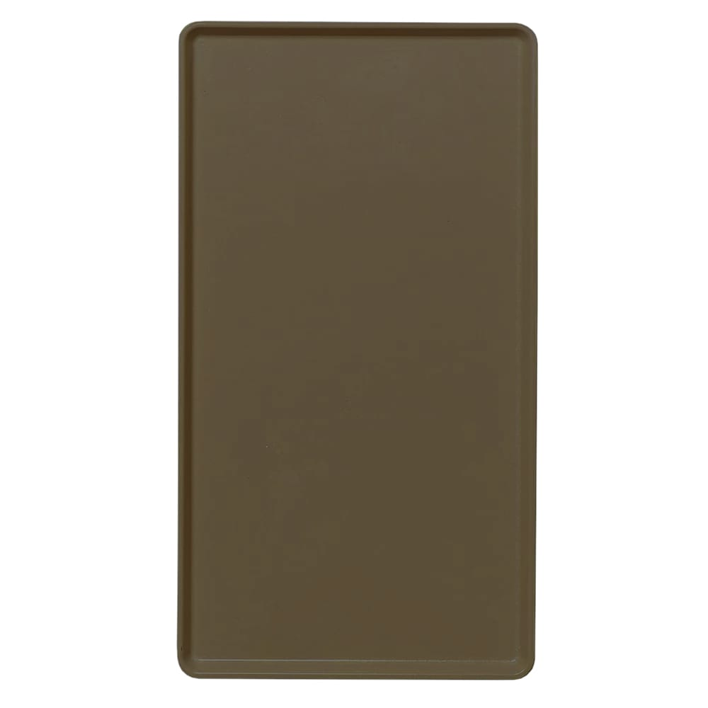 """Cambro 1520D116 Rectangular Dietary Tray - For Patient Feeding, 15x20 3/16"""" Brazil Brown"""