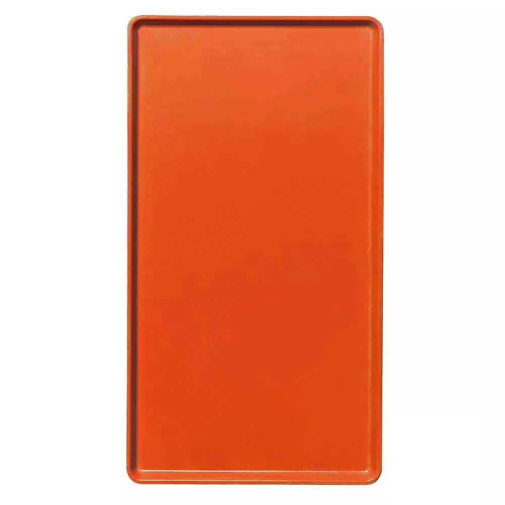 "Cambro 1520D222 Rectangular Dietary Tray - For Patient Feeding, 15x20 3/16"" Orange Pizzazz"