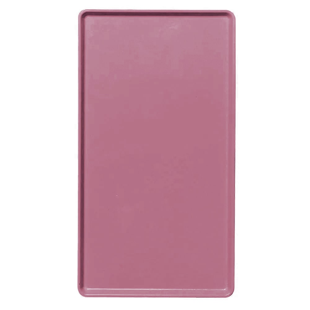 "Cambro 1520D410 Rectangular Dietary Tray - For Patient Feeding, 15x20 3/16"" Raspberry Cream"