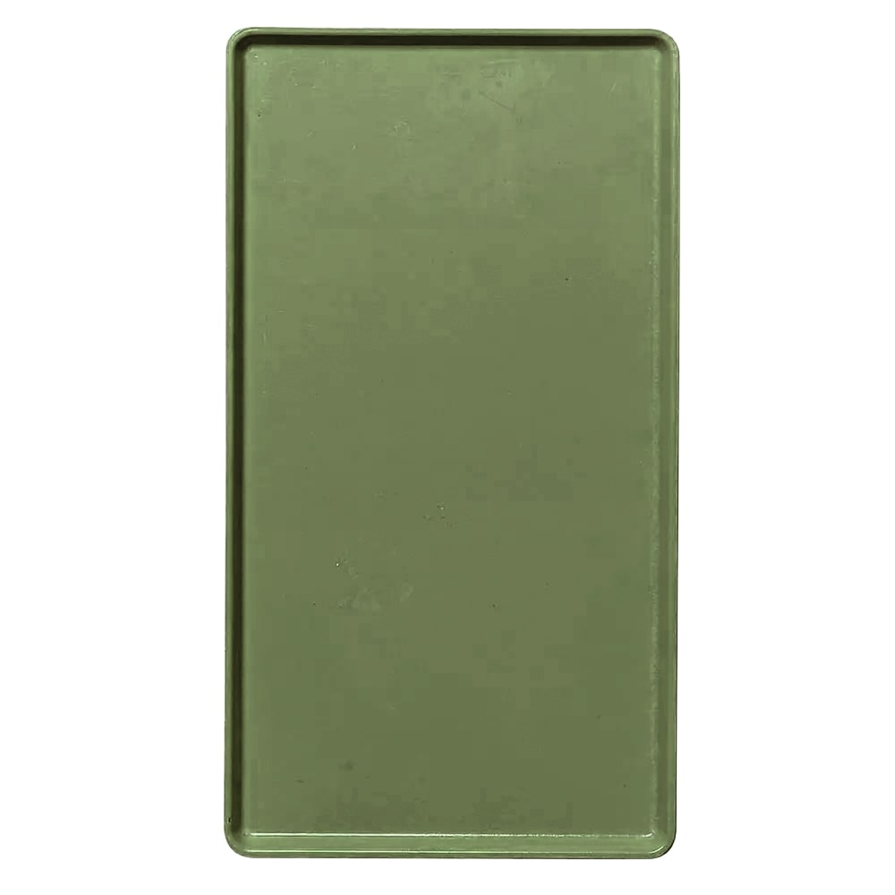 "Cambro 1520D428 Rectangular Dietary Tray - For Patient Feeding, 15x20-3/16"" Olive Green"