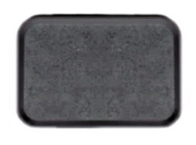 Cambro 1520VDC382 Versa Dietary Tray, Non-Skid, Rectangular, 15 in x 20 in, Black w/ Pebbled Black