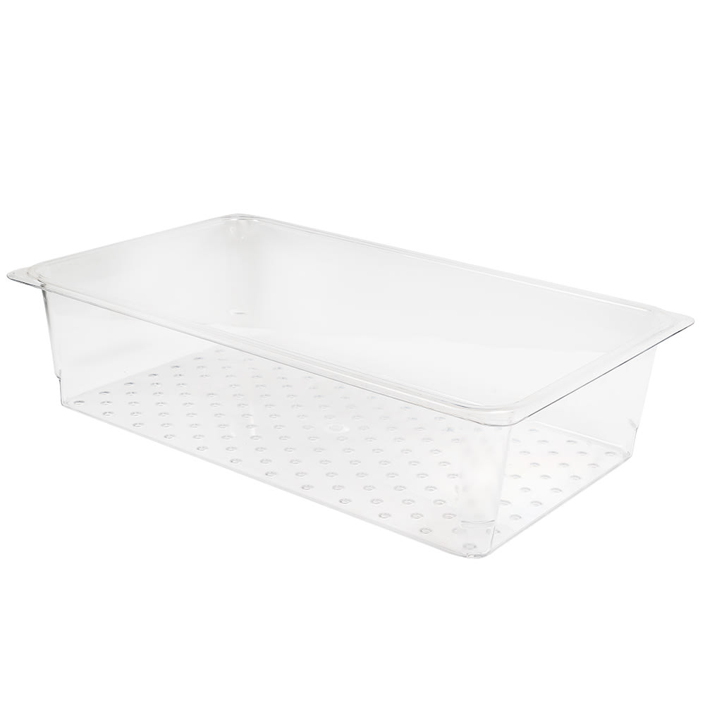 """Cambro 15CLRCW135 Camwear Colander - Full Size, 5""""D, Clear"""
