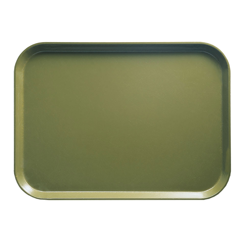 "Cambro 16225428 Rectangular Camtray - 16-1/2x22-1/2"" Olive Green"