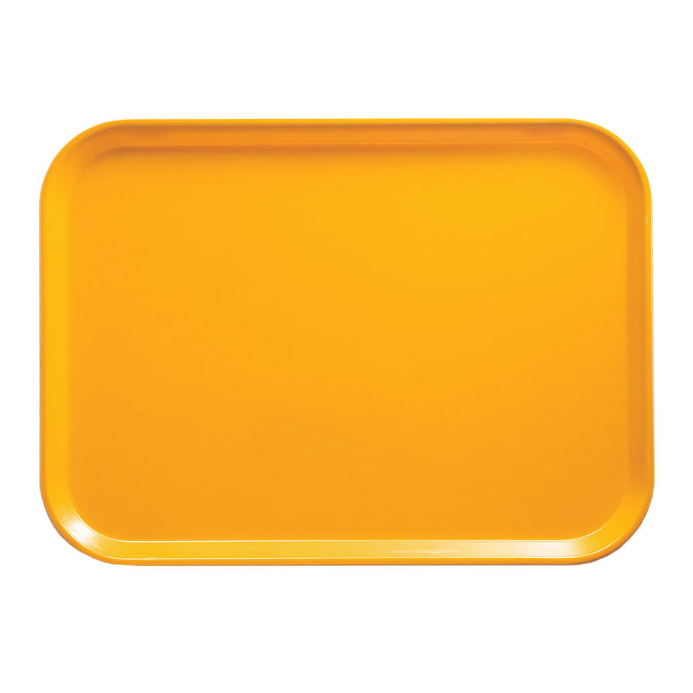 "Cambro 16225504 Rectangular Camtray - 16 1/2x22 1/2"" Mustard"
