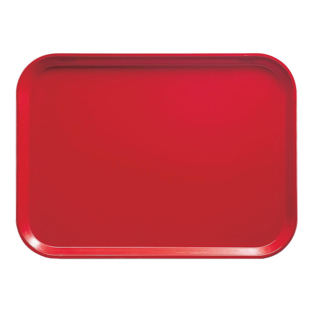 "Cambro 16225510 Rectangular Camtray - 16 1/2x22 1/2"" Signal Red"