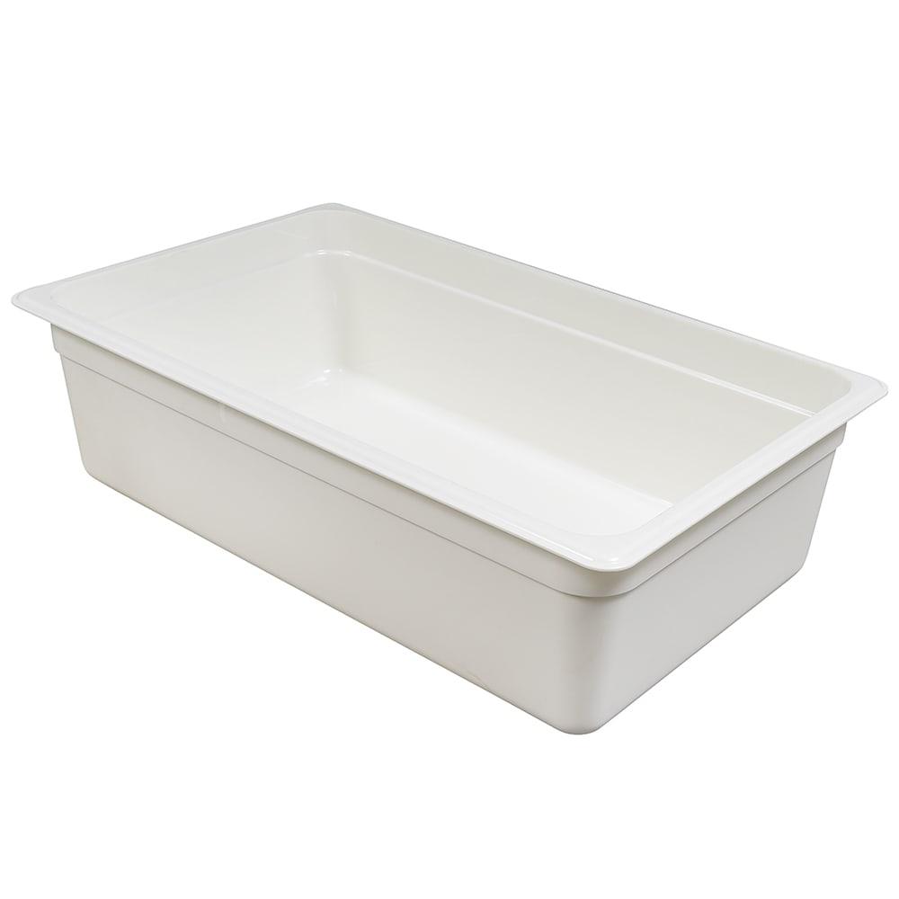 "Cambro 16CW148 Camwear Food Pan - Full Size, 6""D, White"