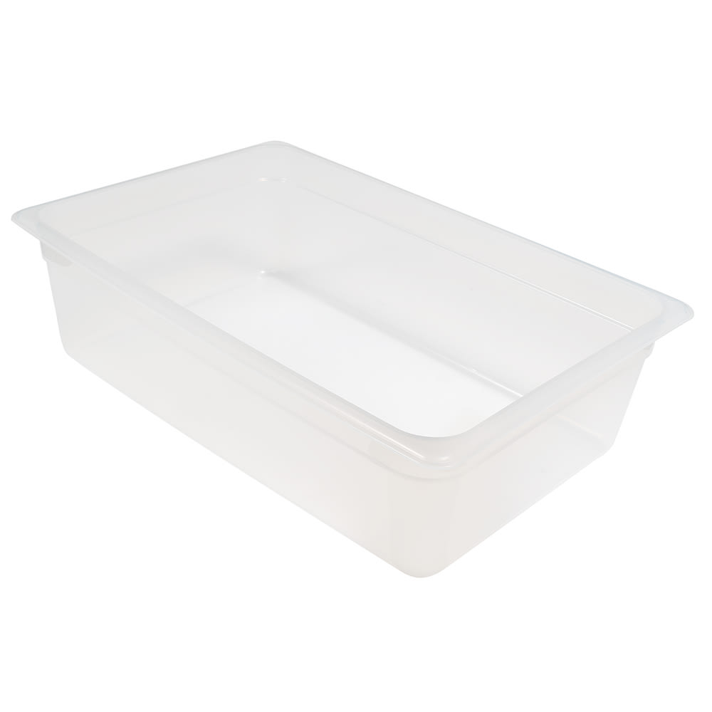 "Cambro 16PP190 Camwear Food Pan - Full Size, 6""D, Translucent"