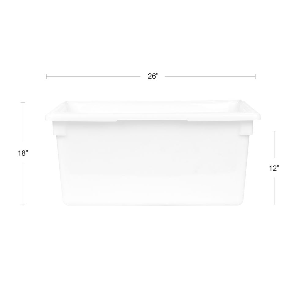 Cambro 182612P148 17 gal Camwear Food Storage Container - Natural White