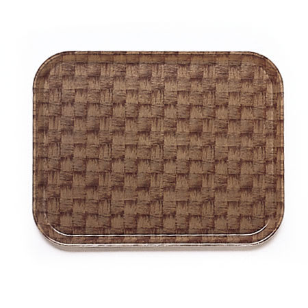 "Cambro 1826301 Rectangular Camtray - 18x25-3/4"" Dark Basketweave"