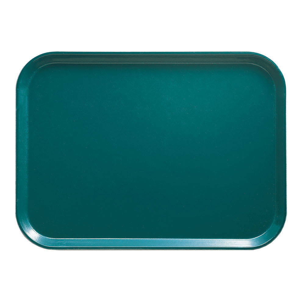 "Cambro 1826414 Fiberglass Camtray® Cafeteria Tray - 25.75""L x 17.8""W, Teal"