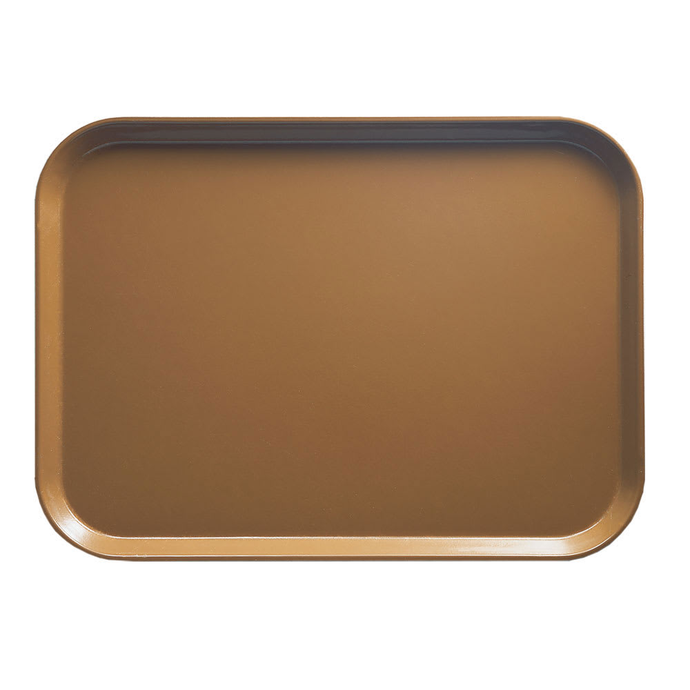 """Cambro 1826508 Fiberglass Camtray® Cafeteria Tray - 25.75""""L x 17.8""""W, Suede Brown"""