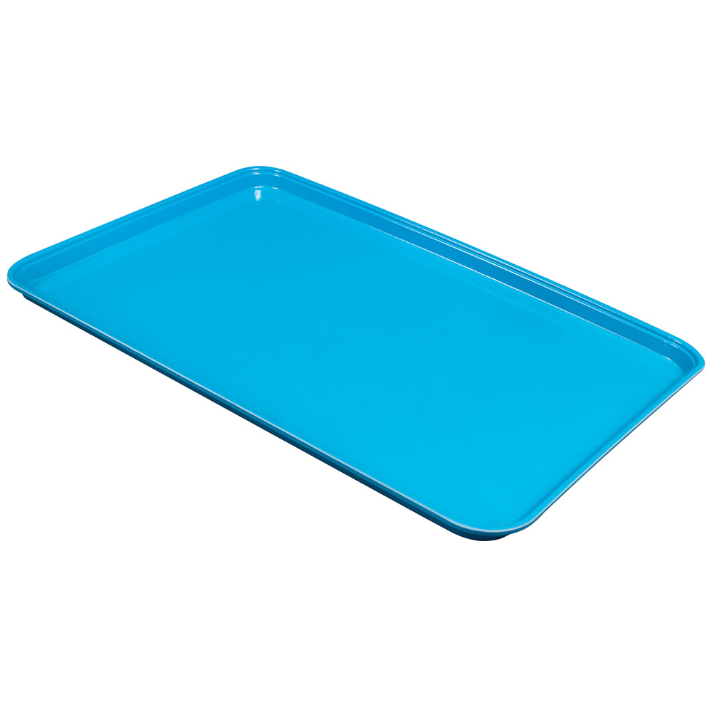 """Cambro 1826CL142 Rectangular Camlite Tray - 18x25-3/4"""" Blue"""
