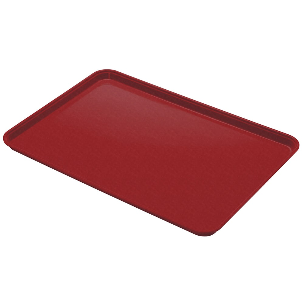 "Cambro 1826CL675 Rectangular Camlite Tray - 18x25 3/4"" Steel Red"