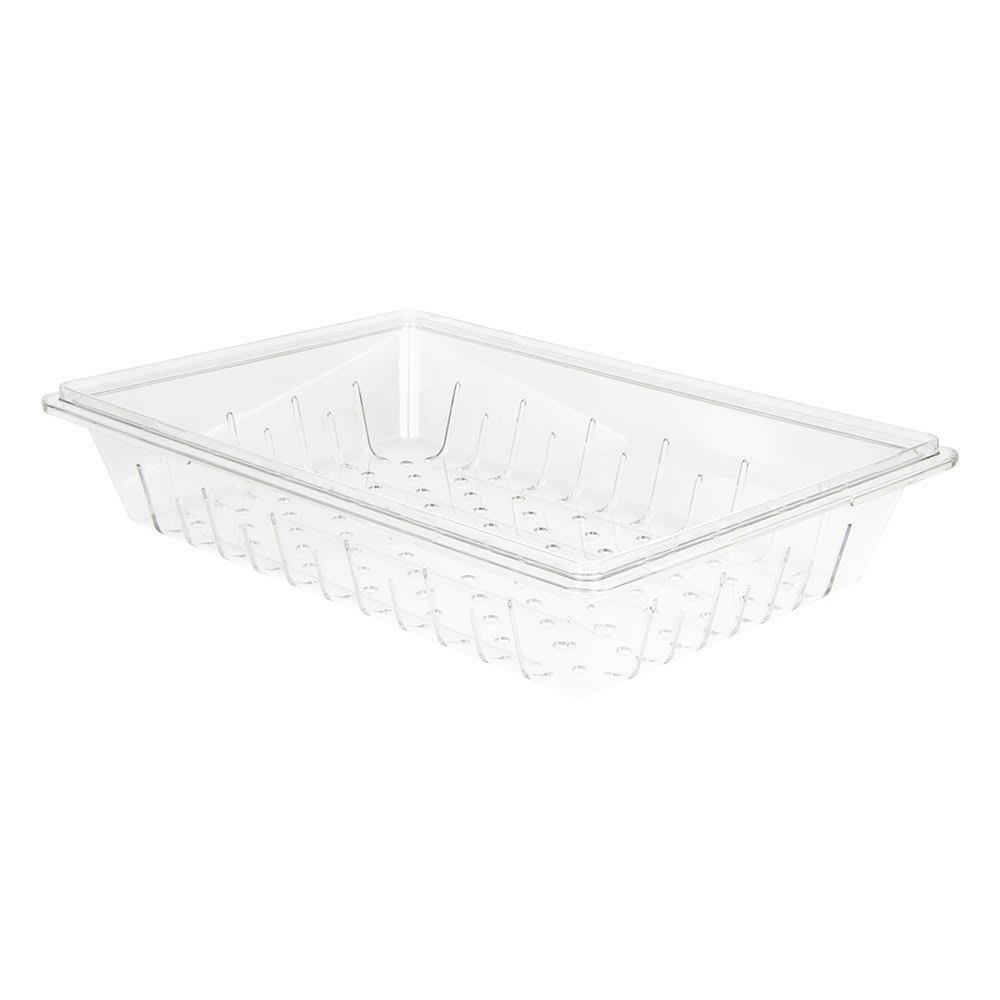 "Cambro 1826CLRCW135 Camwear Colander - Full Size, 6""D, Clear"