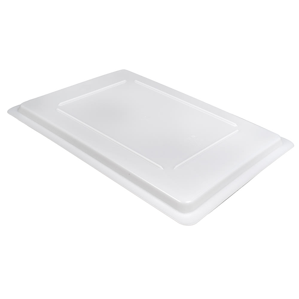 Cambro 1826CP148 Camwear Food Storage Cover - Flat, Full Size, Natural White