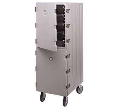 Cambro 1826DBC180 Double Camcart® Food Storage Box Cart - Gray