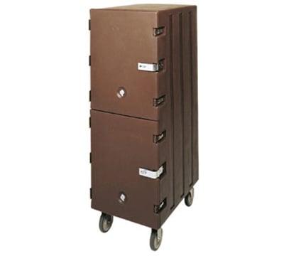 Cambro 1826DTCSP180 Double Camcart Sheet Pan/Tray Cart - Security Package, Gray