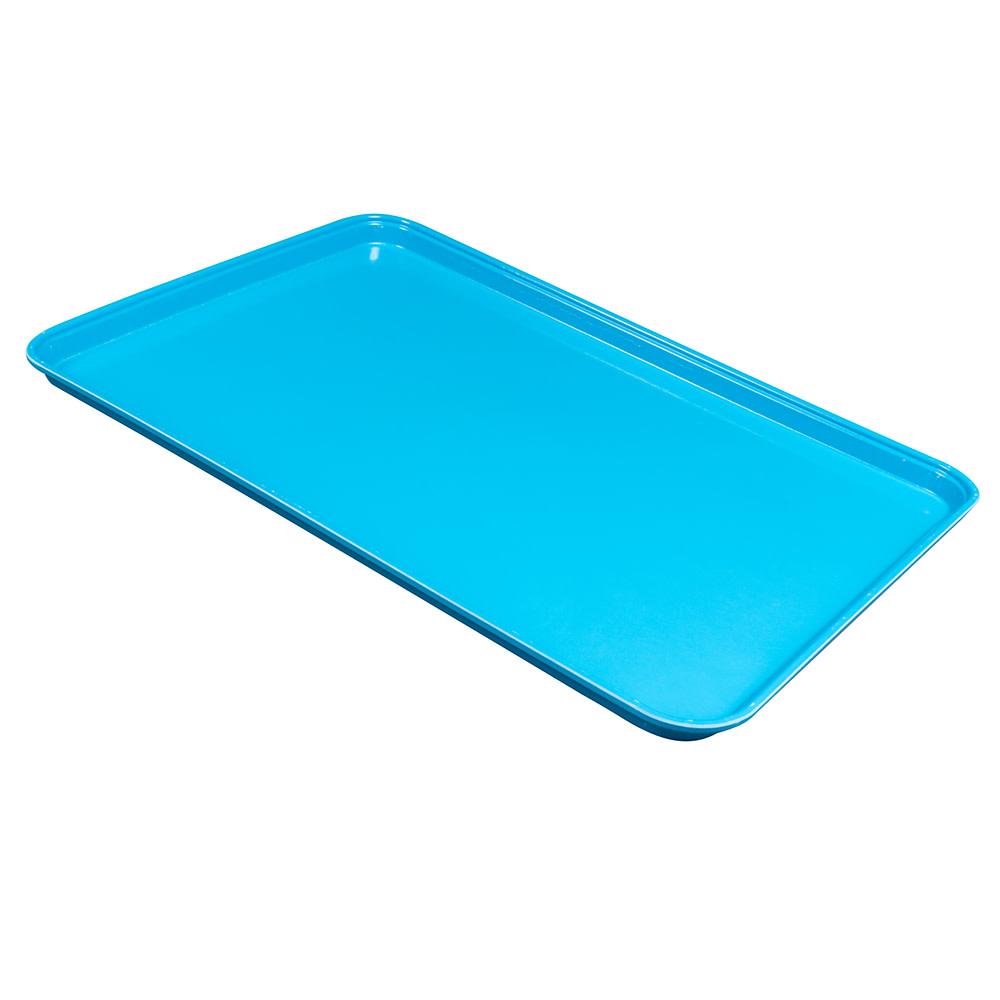 "Cambro 1826MT142 Rectangular Market Display Tray - 17-13/16x25-11/16x11/16"" Blue"