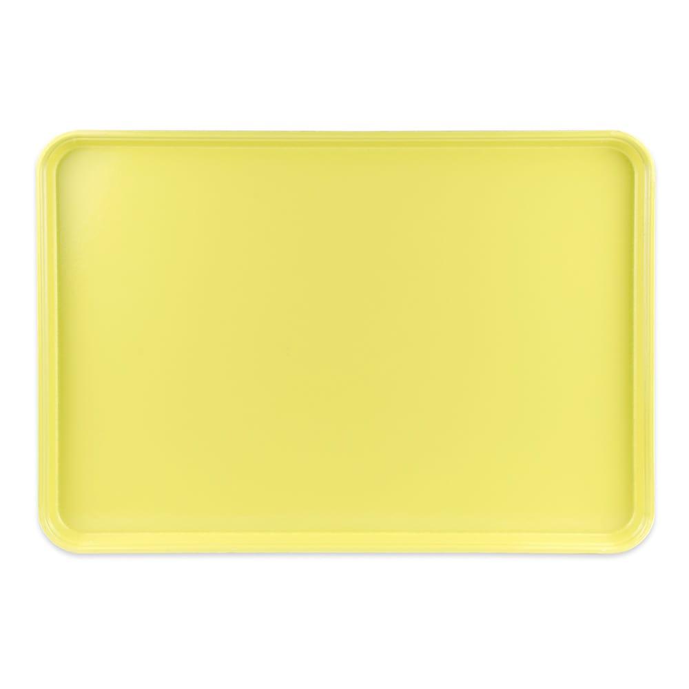 "Cambro 1826MT145 Rectangular Market Display Tray - 17 13/16x25 11/16x11/16"" Yellow"