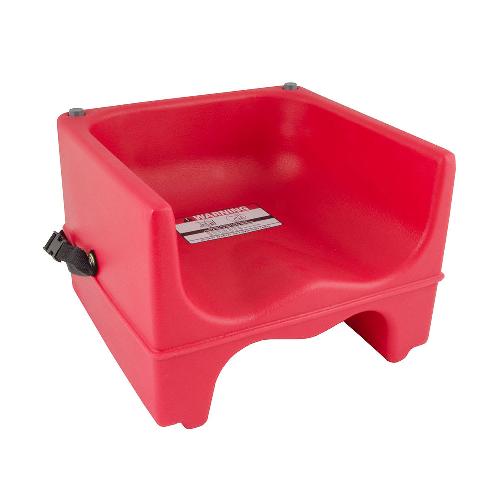 Cambro 200BCS158 Dual-Height Booster Seat w/ Safety Strap - Polyethylene, Hot Red
