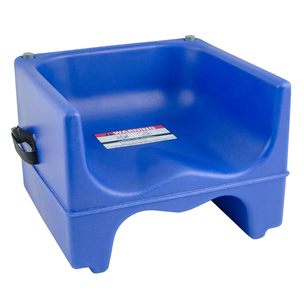 Cambro 200BCS186 Dual-Height Booster Seat w/ Safety Strap - Polyethylene, Navy Blue