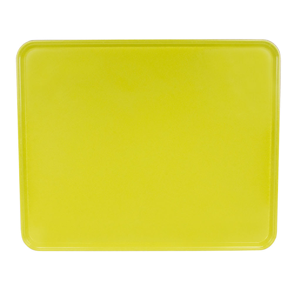 "Cambro 2025MT145 Rectangular Market Display Tray - 20 3/4x25 9/16x13/16"" Yellow"