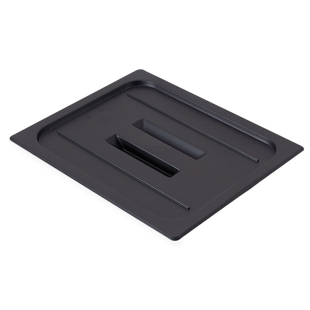 Cambro 20CWCH110 Camwear Food Pan Cover - Half Size, Flat, Handle, Black