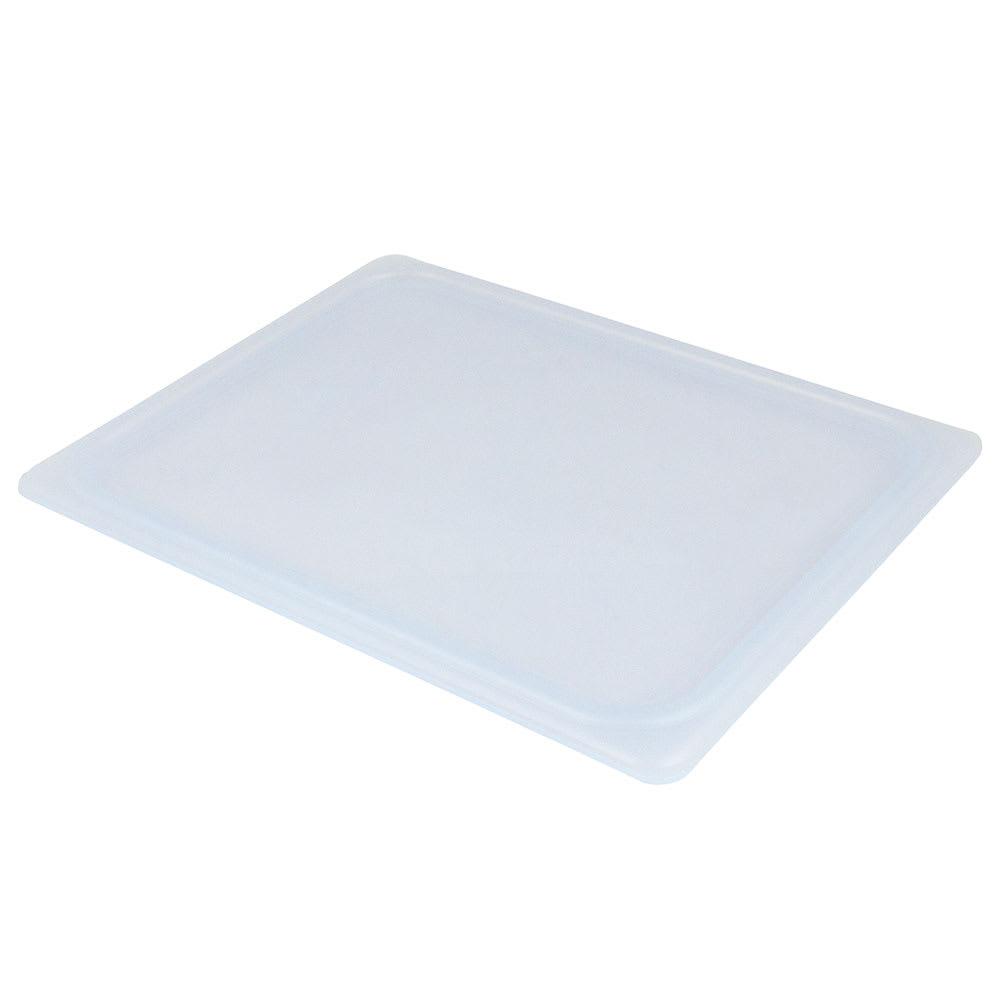 Cambro 20PPCWSC438 1/2-Size Food Pan Seal Cover - Translucent, Polypropylene, Blue, NSF