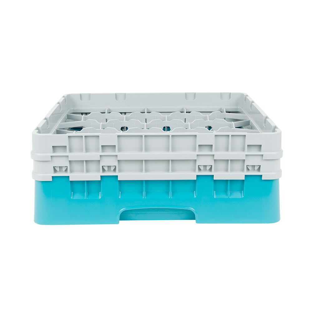 Cambro 20S434414 Camrack Glass Rack - (2)Extenders, 20 Compartment, Teal