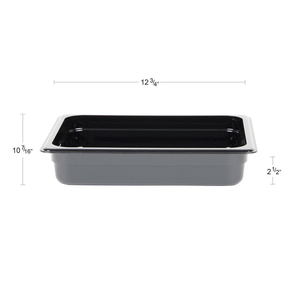 "Cambro 22CW110 Camwear Food Pan - Half Size, 2-1/2""D Black"