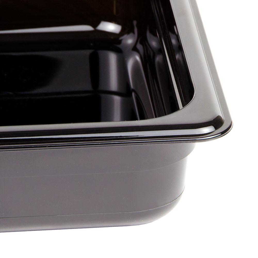 "Cambro 22HP110 H-Pan Food Pan - Half Size, 2 1/2""D, Non-Stick, Black"