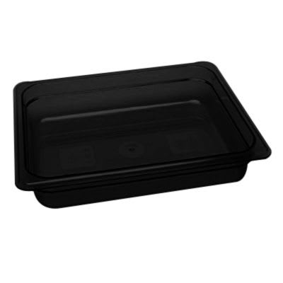 "Cambro 22HP771 X-Pan Hot Food Pan - Half Size, 2 1/2""D, Non-Stick, Onyx"