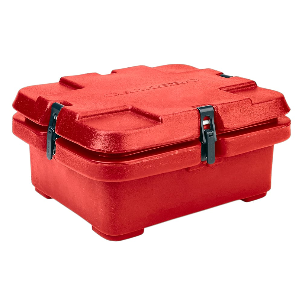 Cambro 240MPC158 Camcarrier Food Pan Carrier - (1)Half Size Pan, Hot Red