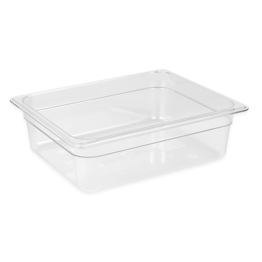 Cambro 24CW135 Camwear® 1/2 Size Food Pan w/ 6.3 qt Capacity, Polycarbonate, Clear