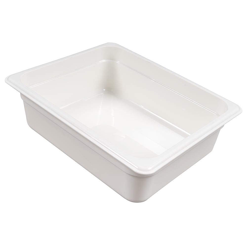 "Cambro 24CW148 Camwear Food Pan - Half Size, 4""D, White"