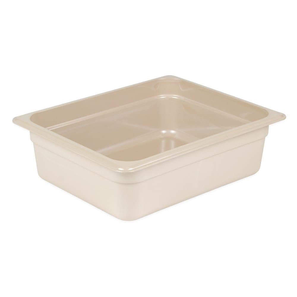 "Cambro 24HP772 X-Pan Food Pan - Half Size, Non-Stick, 4""D, Sandstone"