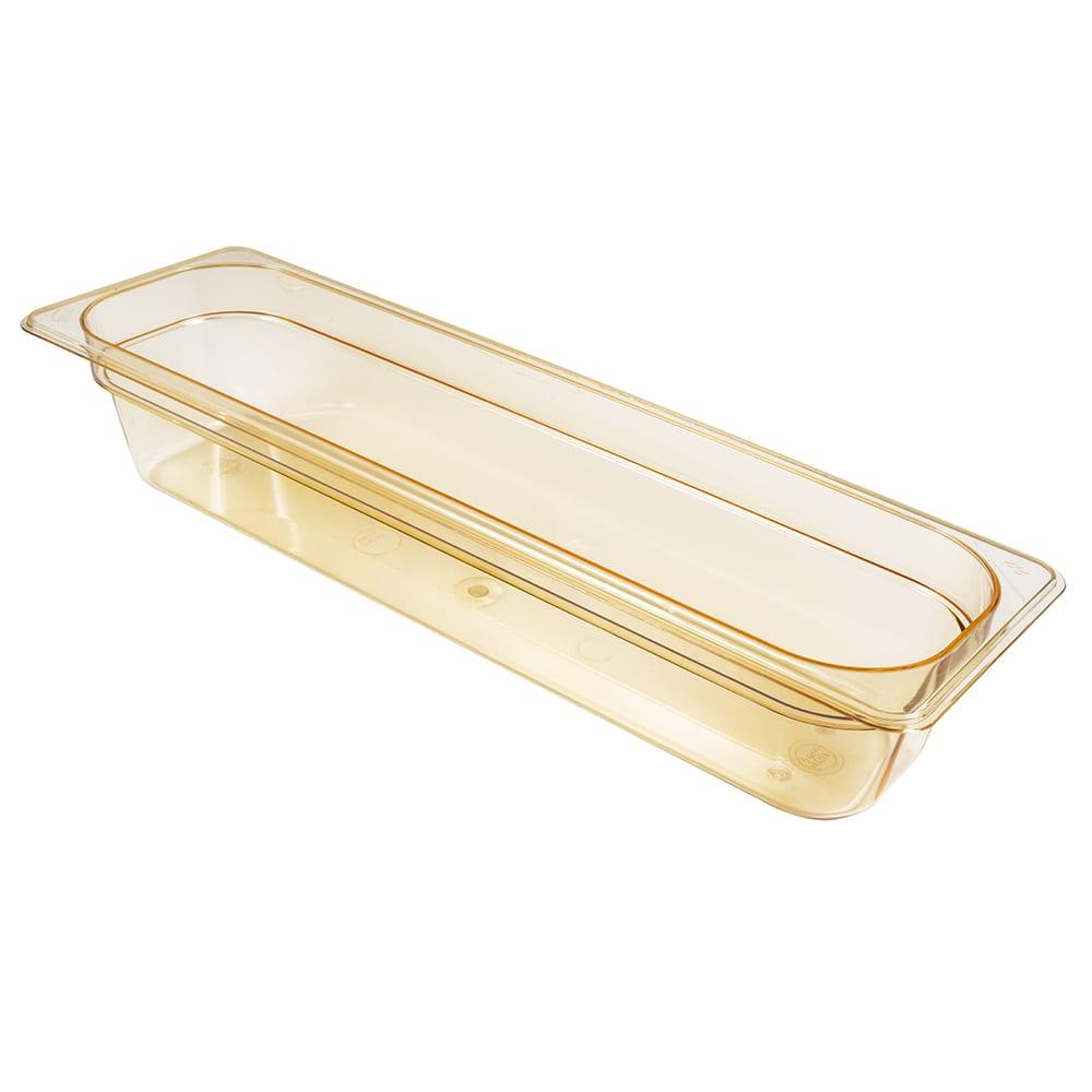 "Cambro 24LPHP150 H-Pan Food Pan - Half Size Long, Non-Stick, 4""D, Amber"