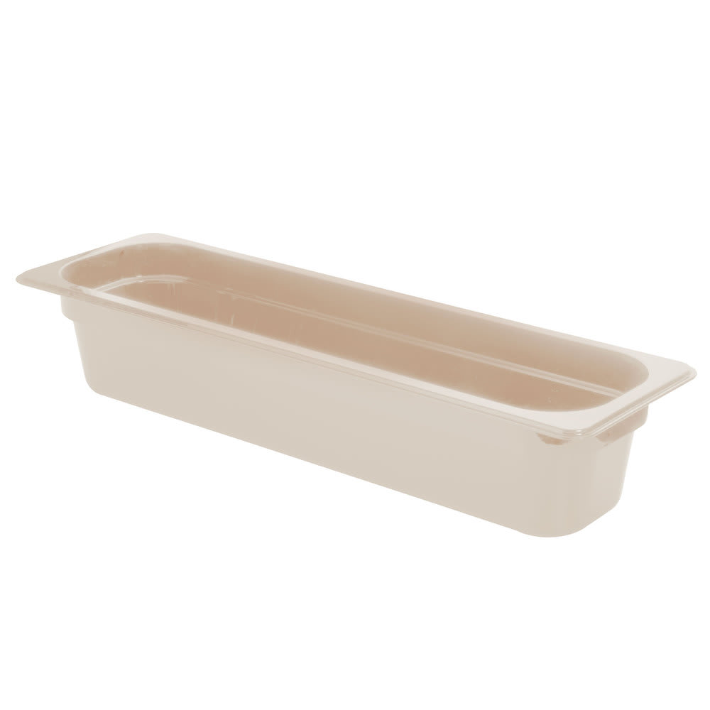 "Cambro 24LPHP772 X-Pan Hot Food Pan - Half Size Long, Non-Stick, 4""D, Sandstone"