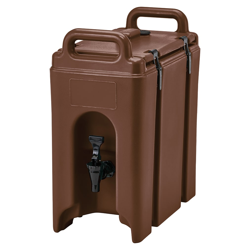 Cambro 250LCD131 2-1/2-gal Camtainer Beverage Carrier - Insulated, Dark Brown