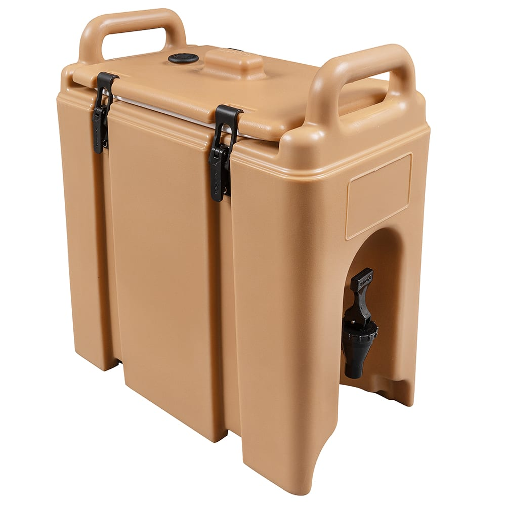 Cambro 250LCD157 2-1/2-gal Camtainer Beverage Carrier - Insulated, Coffee Beige