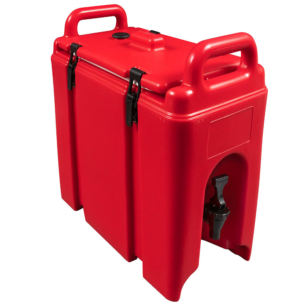 Cambro 250LCD158 2-1/2-gal Camtainer Beverage Carrier - Insulated, Hot Red