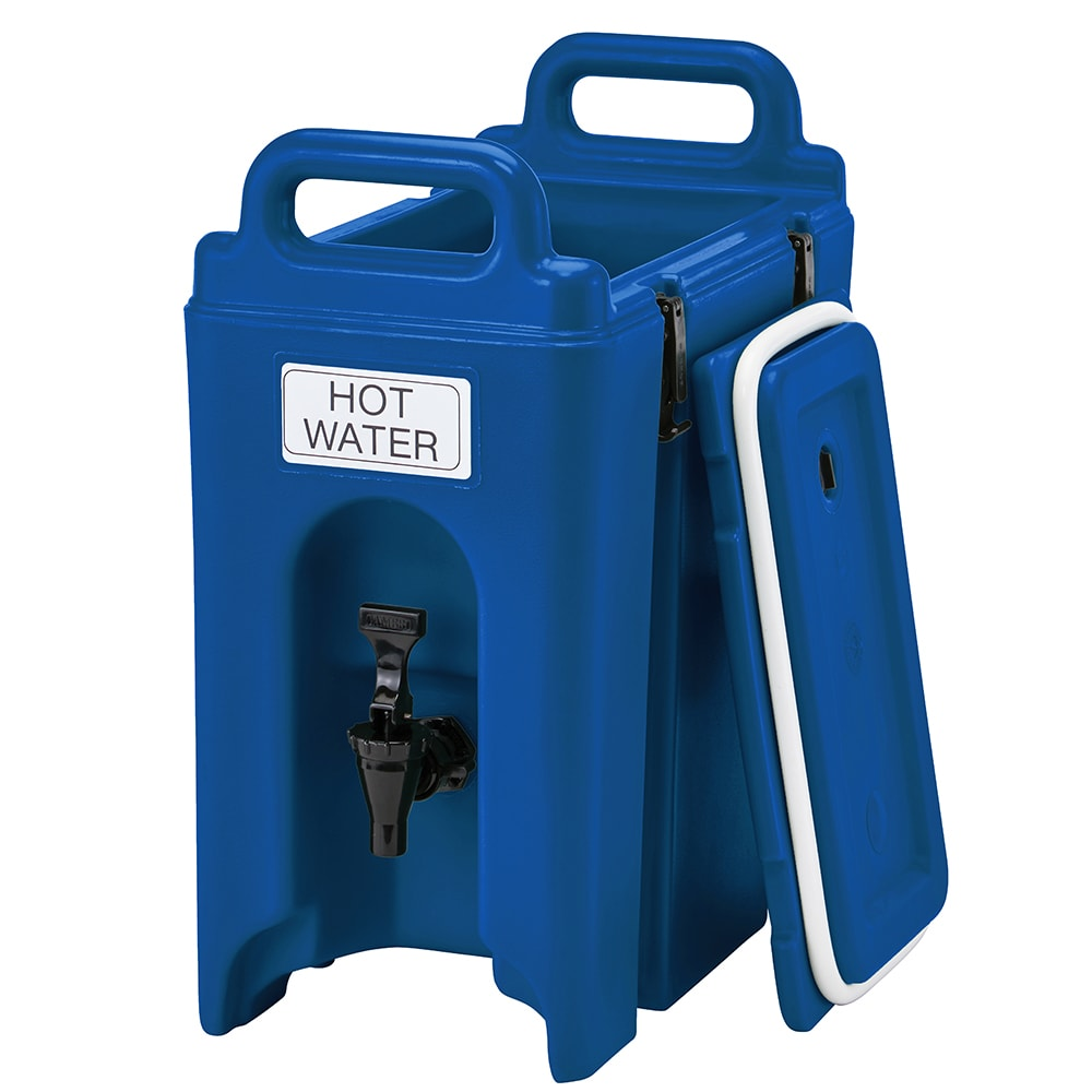 Cambro 250LCD186 2 1/2 gal Camtainer Beverage Carrier - Insulated, Navy Blue