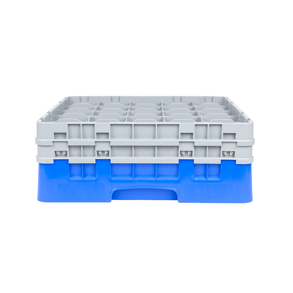 Cambro 25S534168 Camrack Glass Rack - (2)Extenders, 25 Compartment, Low Profile, Blue