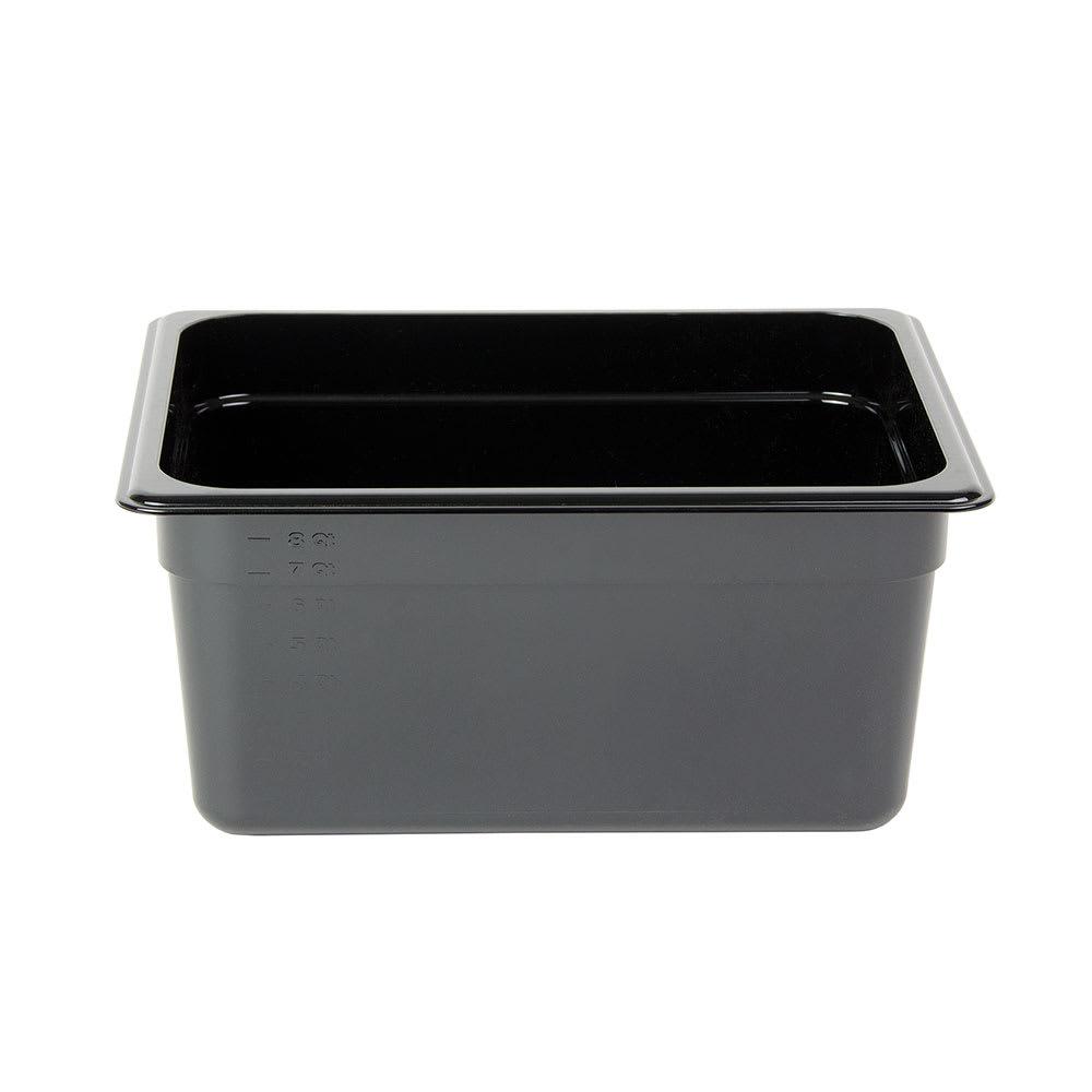 "Cambro 26HP110 H-Pan Food Pan - Half Size, Non-Stick, 6""D, Black"