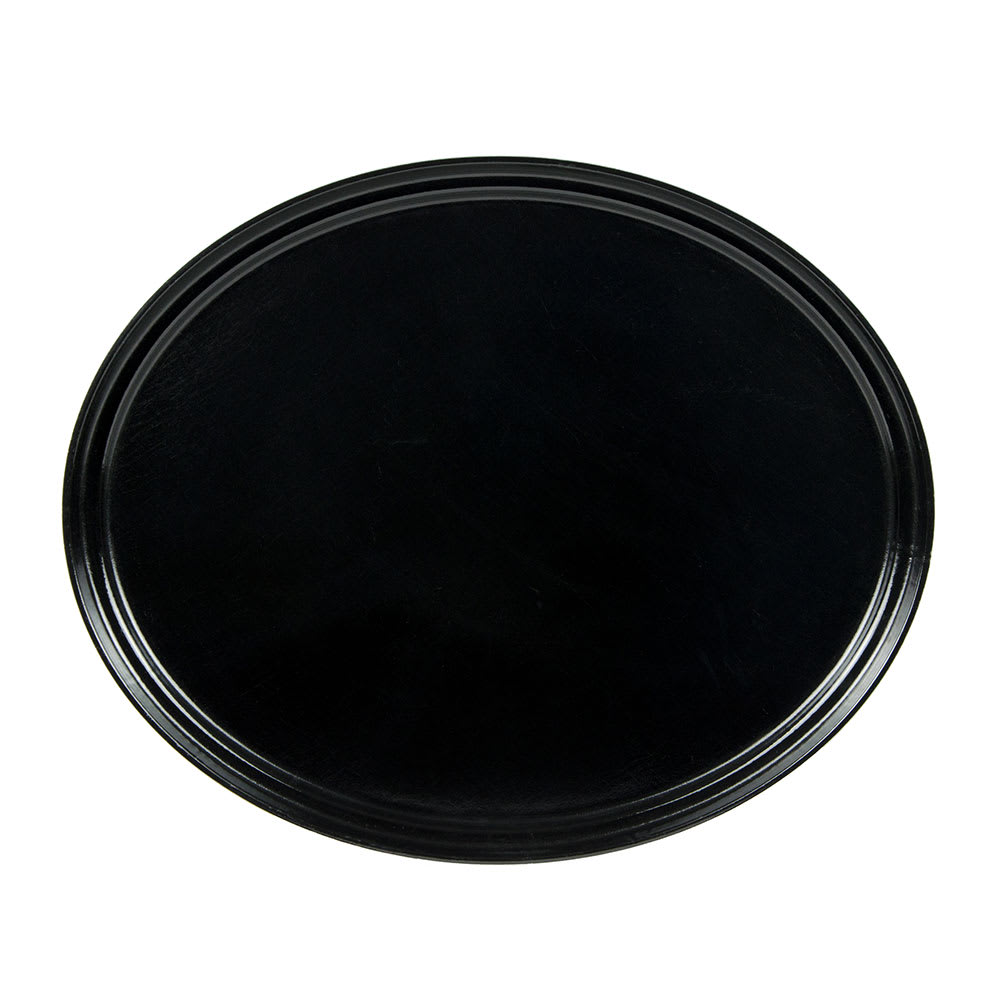 "Cambro 2700110 Oval Serving Camtray - 22x27"" Black"