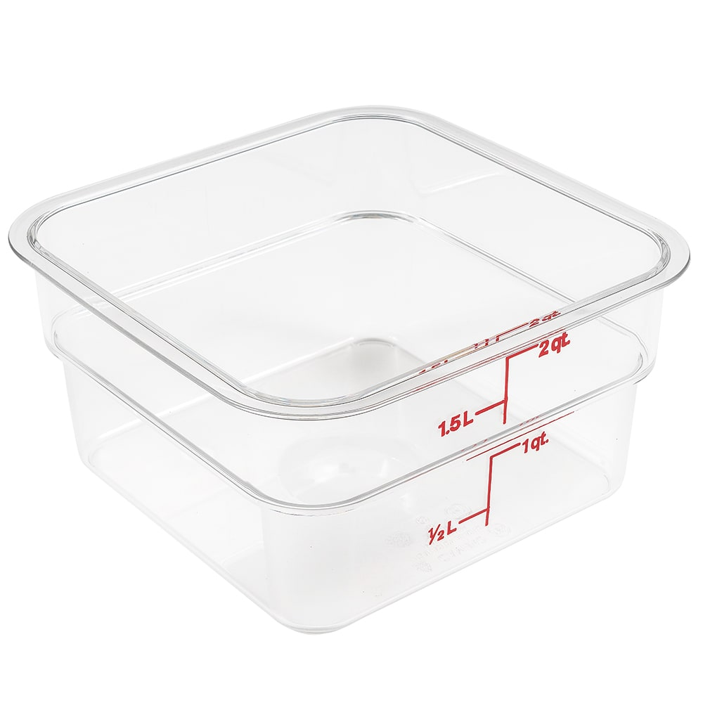 Cambro 2SFSCW135 2 qt CamSquare Food Container - Clear