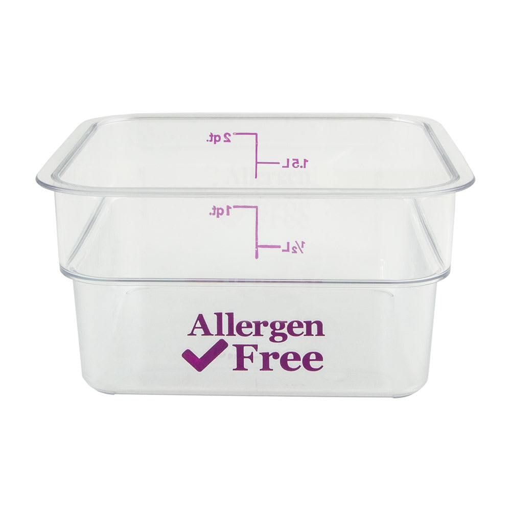 Cambro 2SFSCW441 2-qt Food Container - Allergen-Free, Polycarbonate, Clear
