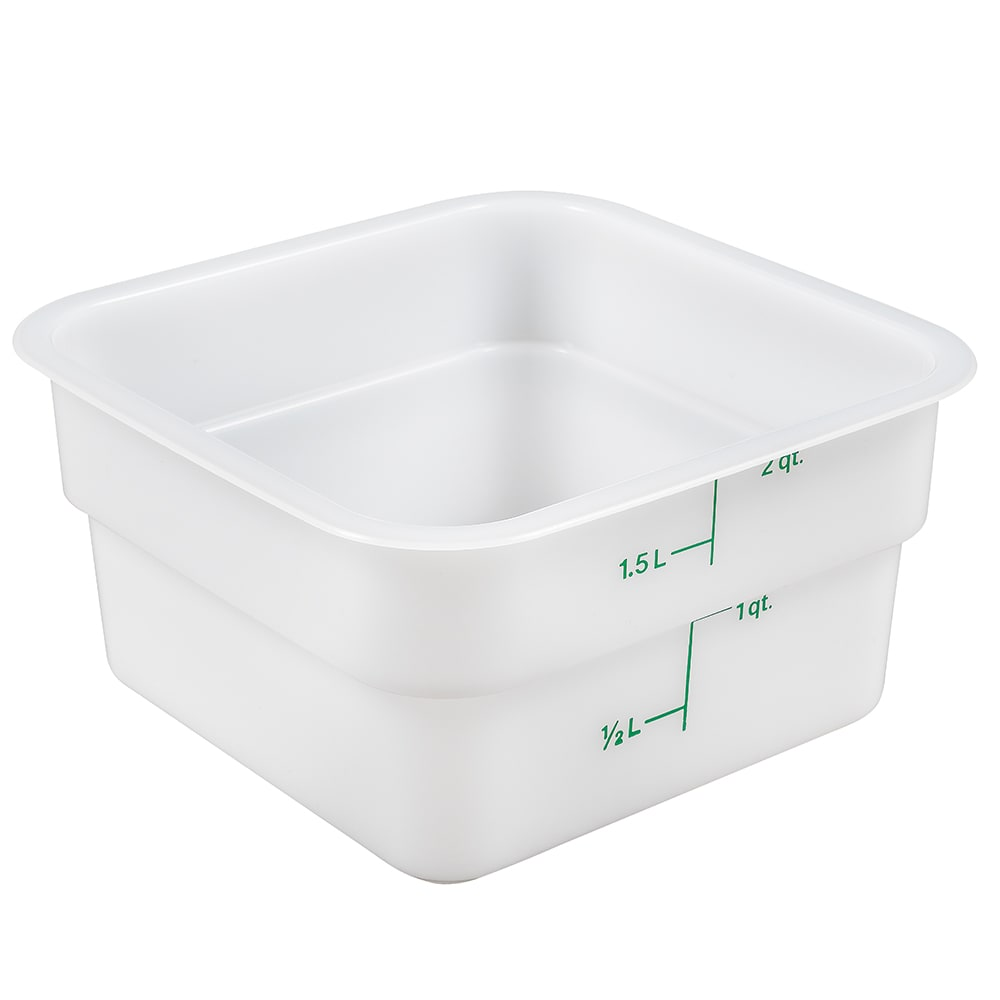 Cambro 2sfsp148 2 Qt Camsquare Food Container Natural White